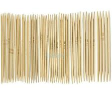 11 sizes 5 Set Double Point Carbonized Bamboo Knitting Needles 2.0--5.0mm US 0-8
