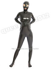 100% Latex Rubber Gummi 0.45mm Bodysuit Catsuit Mask Suit Zentai Black Scoks