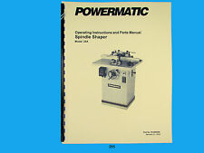Powermatic  Model 25A Spindle Shaper Instruction & Parts List Manual *265