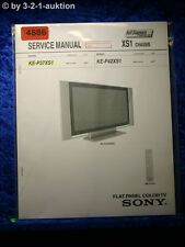 Sony Service Manual KE P37XS1 /P42XS1 Color TV (#4886)