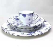 Wedgwood Blue Plum 4 Pc Place Setting Dinner Salad Plates Soup Bowl Tea Cup Mug