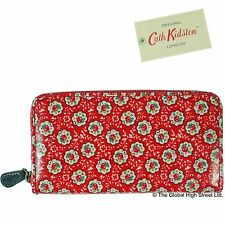 Cath Kidston Purse - Zip Wallet Kempton Rose (red) *100% authentic* *BNWT*