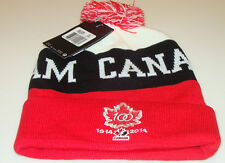 Team Canada 2015 World Juniors Hockey 100th Anniversary Toque Beanie Hat Cap OS