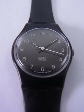 LB145 New Swatch - 1997 Ladies Little Tselim Black White Swiss Made Authentic