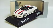 1:43 SPARK 2016 PORSCHE 911R 991 II white red LE 1911 pcs RARE Dealer Promo !!!