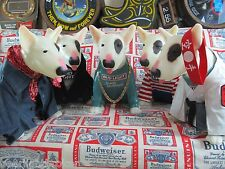 VTG Bud Light Spuds Mackenzie Bull Terrier Motion Dog Outfit Bar Beer Sign A+++