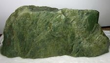 1995g BC Canada 100% Natural Raw Rough Green Jade Block Slab Specimen 4 lb 6 oz