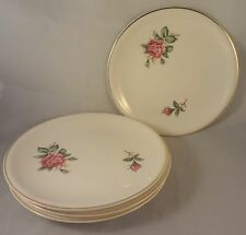 RED ROSE by PADEN CITY BREAD & BUTTER PLATES (Set of 4) Roses & Buds