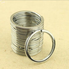 10 Pcs 32mm Metal Key Holder Split Rings Keyring Keychain Keyfob Accessories