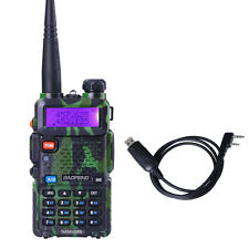 BaoFeng UV-5R 136-174/400-520MHz Dual-Band ham 2 way radio Walkie Talkie +Cable