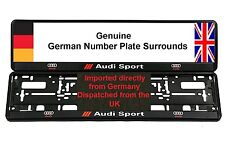 AUDI SPORT Number Plate Surrounds X 2 TT A3 S3 S4 RS4