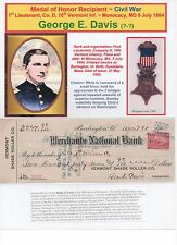 Medal of Honor Recipient ~ Civil War ~ Custom Color Display ~ George E. Davis