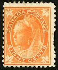 1897-1898 Canada Stamp #72 8c orange, Unused VF+ HR