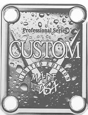 NECK PLATE - Professional Series - Custom Made in USA - chrome - guitare & basse