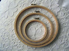 Set of 3 Budget Wooden Hoops /Rings,for Embroidery and Cross Stitch,4,6,& 8 inch