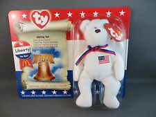 2000 McDonald's Ty Beanie Babies AMERICAN TRIO LIBEARTY the BEAR In Box