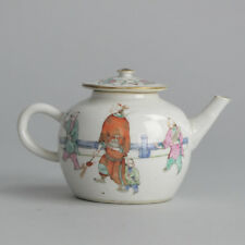 Antique Qing 19c Chinese TeaPot Scene Tea Set Immortals China Guangxu Old & Rare