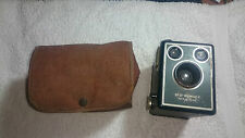 Kodak Brownie SIX-20 Model C 620 Film Box Camera & Case