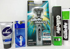Combo 1 Gillette Mach3 Razor + 1 Gillette Shaving Gel + 1 Gillette Shaving Cream