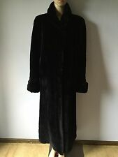 Gorgeous Black Sheared Mink Long Coat Size M-L