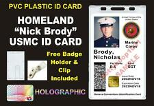 HOMELAND - Sergeant NICK BRODY'S USMC ID Badge Card Prop - PVC Plastic CAC ID