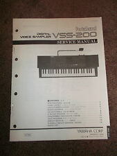 Yamaha PortaSound Digital Voice Sampler VSS-200 Service Manual Schematics Parts