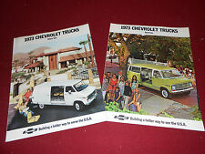 1973 CHEVROLET VAN BROCHURE and SPORTVAN CATALOG: 2 For 1 CHEVY VAN DEAL!