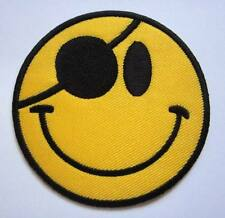 Pretty Happy Smile Pirate Icon Emoticon Embroidered Iron on Patch Free Postage