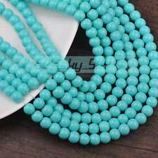 New 200pcs 4mm Round Jewelry Findings Loose Glass Spacer Beads Light Lake Blue