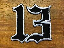 Lucky 13 thirteen biker retro emo punk rockabilly applique iron on patch