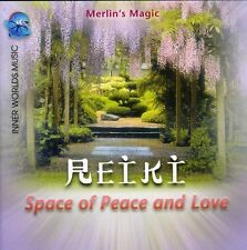 Reiki-Space Of Peace & Love - Merlin's Magic (2003, CD NEUF)