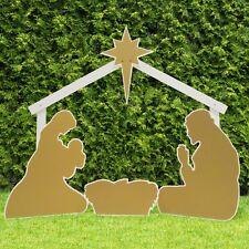 Outdoor Nativity Store Gold Outdoor Nativity Set - Holy Family Yard Scene