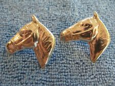 Sterling Silver Mexican Horse Head Earrings Pierced 12.7g marked TM-01