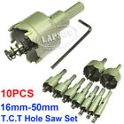 16mm -50mm Steel Carbide Tipped Tip Drill Bit TCT Metal Wood Cutter Hole Saw Set