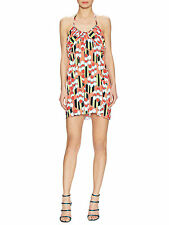 T BAGS LOS ANGELES Stretch Jersey Halter Ruched Shift Dress $185 Retail Size S