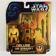 "HASBRO STAR WARS 3.75INCH POWER OF THE FORCE "" DELUXE LUKE SKYWALKERS "" - RARE"