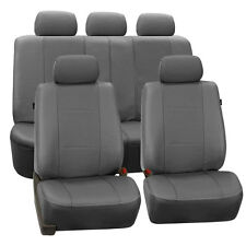 Gray Deluxe Leatherette Car Seat Covers for Toyota