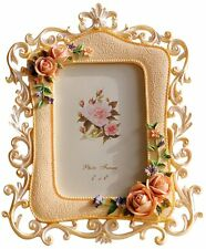 Giftgarden® 4x6 Flower Picture Frame with Pretty Rose Decor