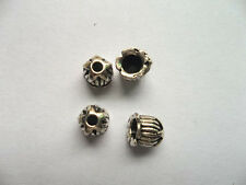 40pcs beautiful Tibet silver Flower End Beads Caps 6x6.5mm