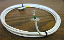 10 feet 16 AWG Shielded Silver Plated PTFE Wire Coax White