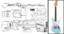 Jag-Stang-Style Electric Guitar Full Scale Plan