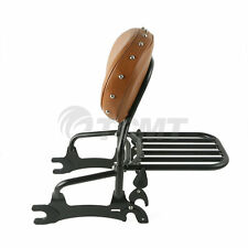 """12"""" Backrest Sissy Bar Luggage Rack For Indian Chief Classic Vintage Dark Horse"""