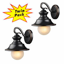 Oil Rubbed Bronze Outdoor Patio/Porch Exterior Light Fixtures-Twin Pack :21-2434