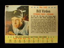 1963 Post #142 Bill Virdon Pittsburgh Pirates Card - VG-EX, No Creases