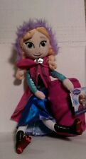 "Disney Frozen 10"" Anna Plush Doll+Throw Blanket Authentic Disney New/tags"