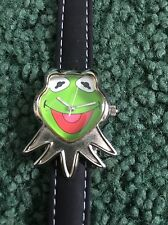 Hensen Muppets Kermit the Frog Shaped Watch with Leather Strap.