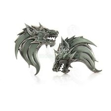 Car Vehicle Metal Emblems Badge Sticker Alloy Silver 3D Wolf Decal Offroad 2pcs