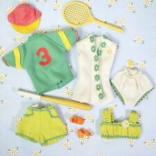Vintage 1974 Dusty Doll Clothes Accessories Tennis Volleyball Softball Sport Lot