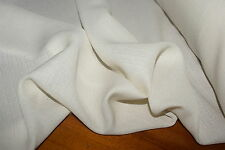 'CREAM LINES' Silk / Linen Georgette Fabric 2.4m x 1.12m