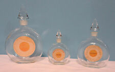 Shalimar Guerlain France Empty Vintage Perfume Bottle Set of 3 with stoppers